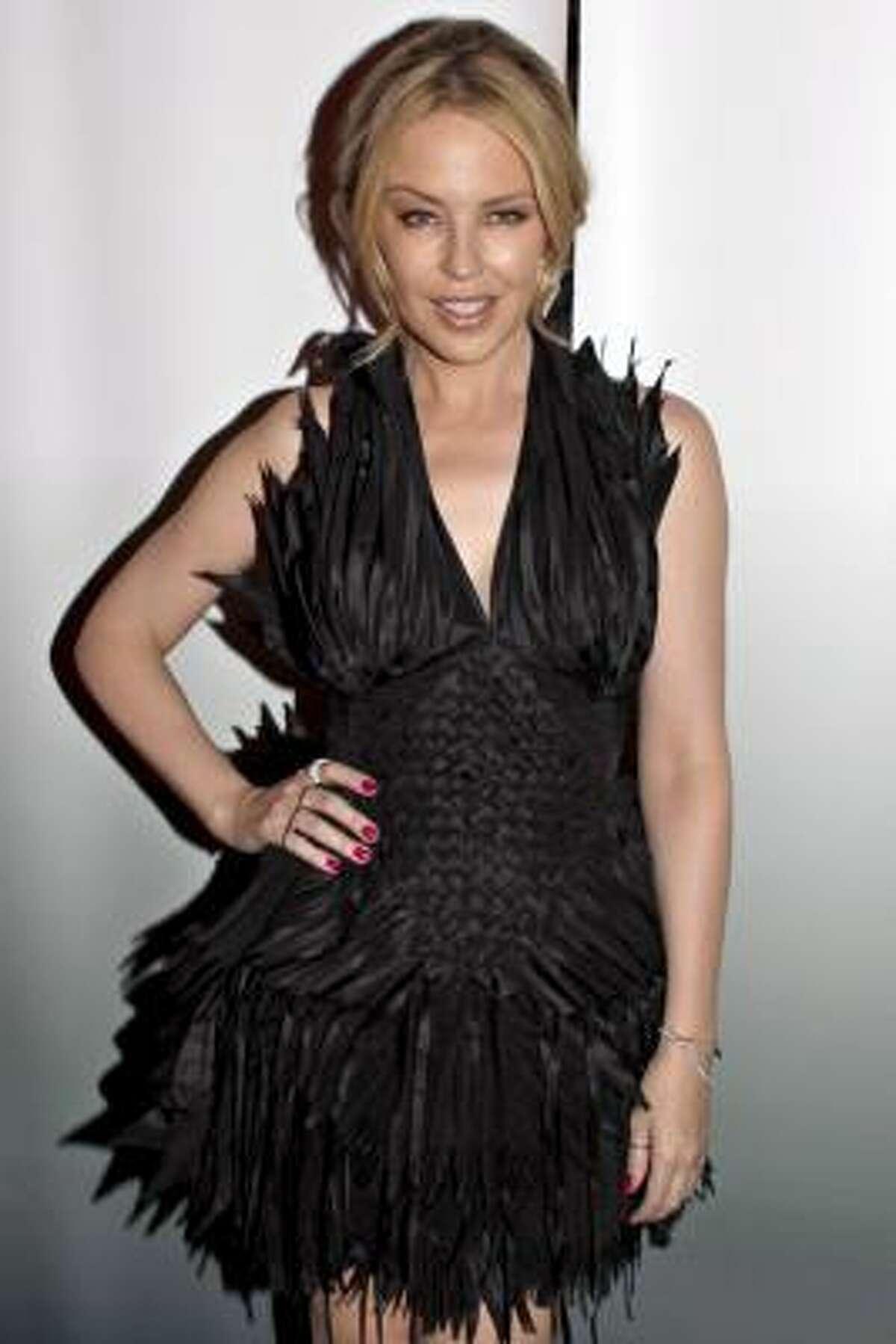 Australian singer Kylie Minogue's latest CD is Aphrodite.