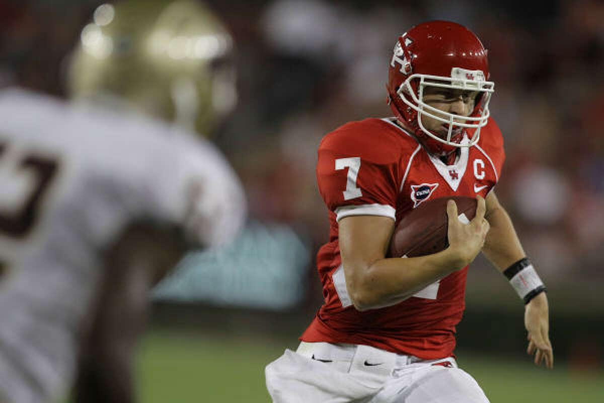 With Case Keenum operating the offense, UH has averaged 42 points and 561 yards the past 28 games.