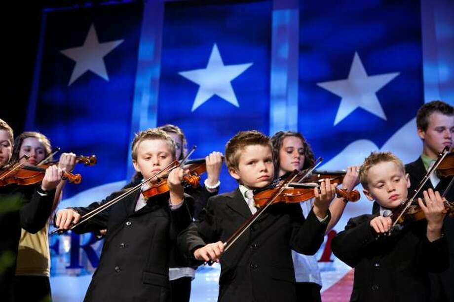 The Duggar family of The Learning Channel show 19 Kids and Counting performs at the Values Voter Summit. The annual summit drew nearly 2,000 people to advocate for conservative causes. Photo: Brendan Hoffman, Getty Images