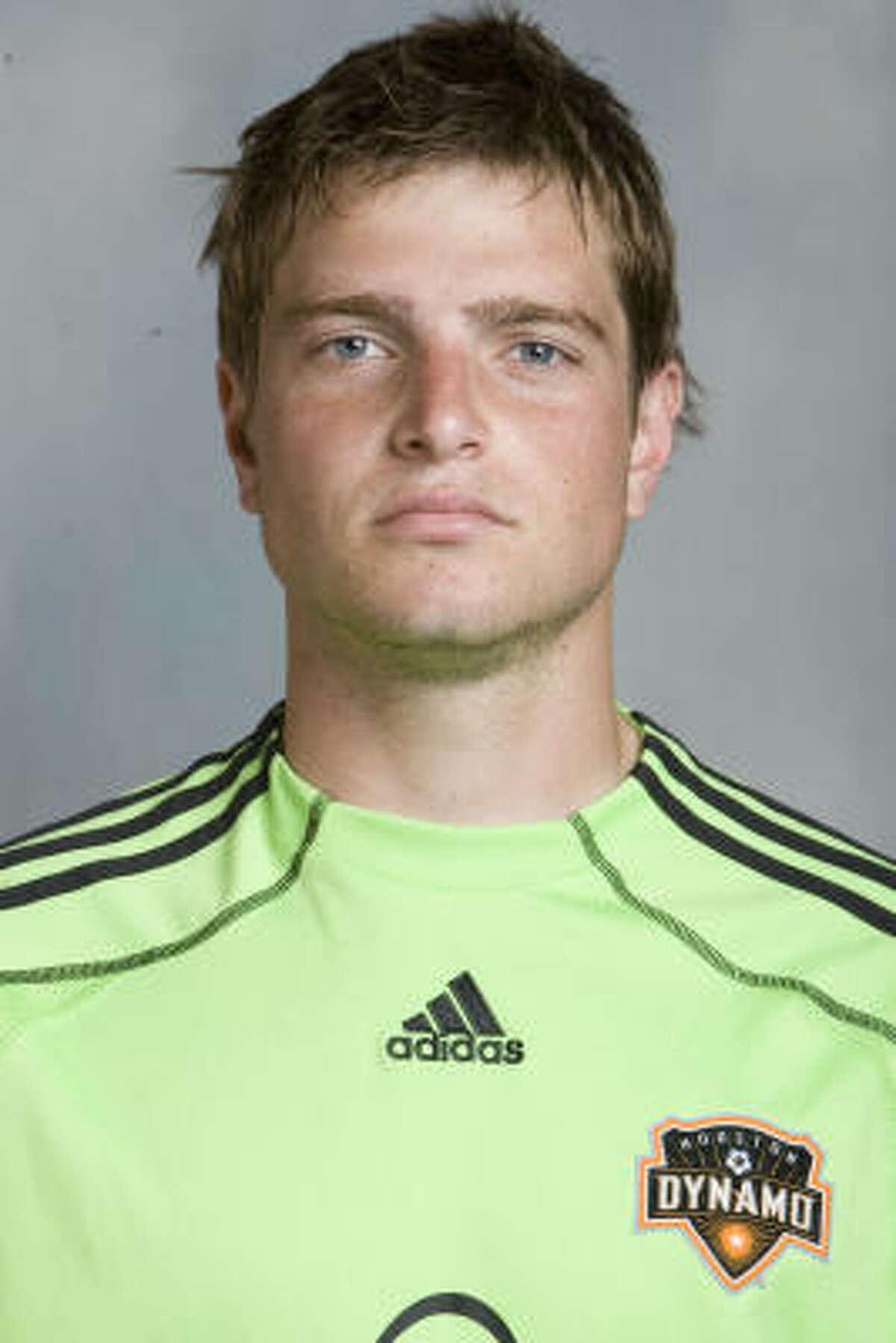 Tyler Deric, joven portero del Dynamo que se formó en Klein, al norte de Houston.