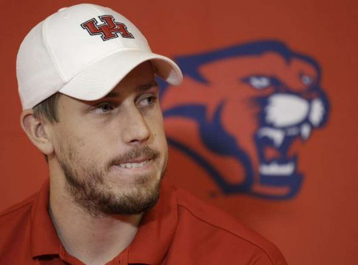UH quarterback Case Keenum is seeking a sixth year of eligibility.