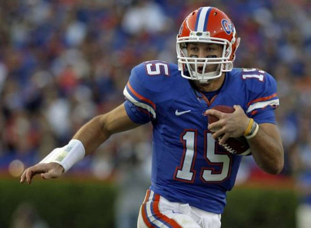 Tim Tebow was one quarterback who declined to throw at the scouting combine.
