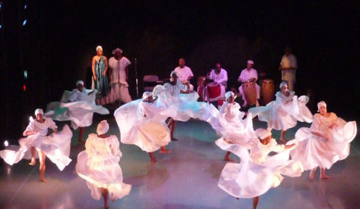 Members of the Oyu Oro Afro-Cuban Dance Ensemble perform contemporary pieces based on folkloric traditions, including rarely seen Haitian-influenced dances from eastern Cuba.