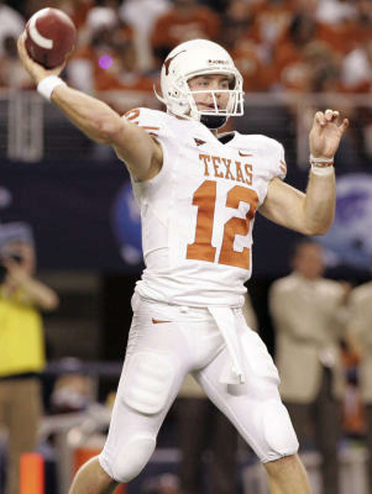 Colt McCoy, like several Texas natives, heard his name called on the second day of the draft.