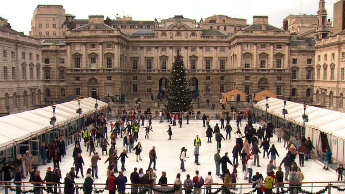 Skating in front of Somerset House is one of London's top winter activities.
