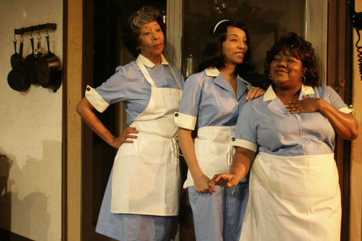Shirley Whitmore, from left, Lee Waddell and Tisha Dorn play employees at a segregated diner.