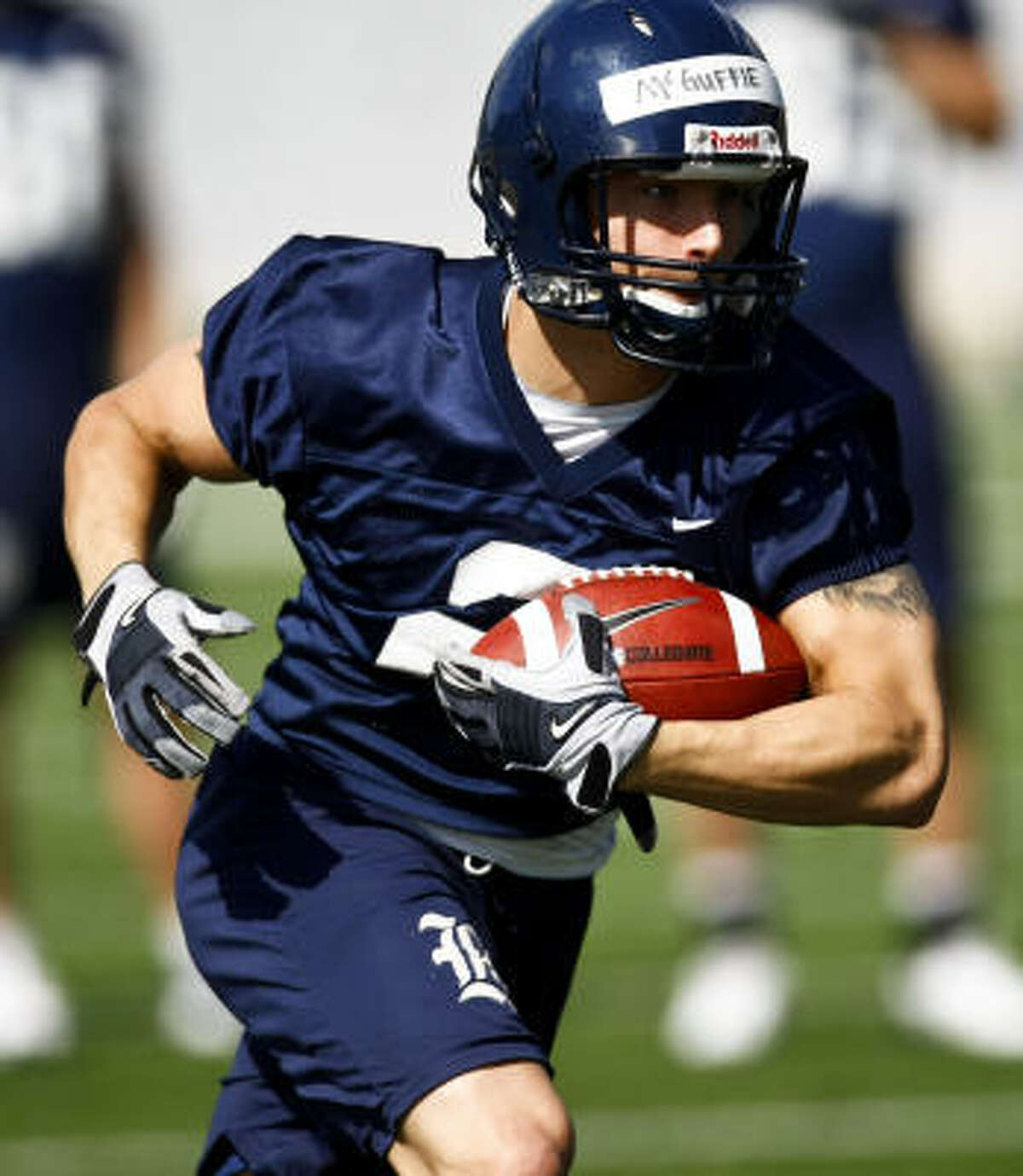 Sam McGuffie, shown here during last year's spring practices, has impressed this spring.
