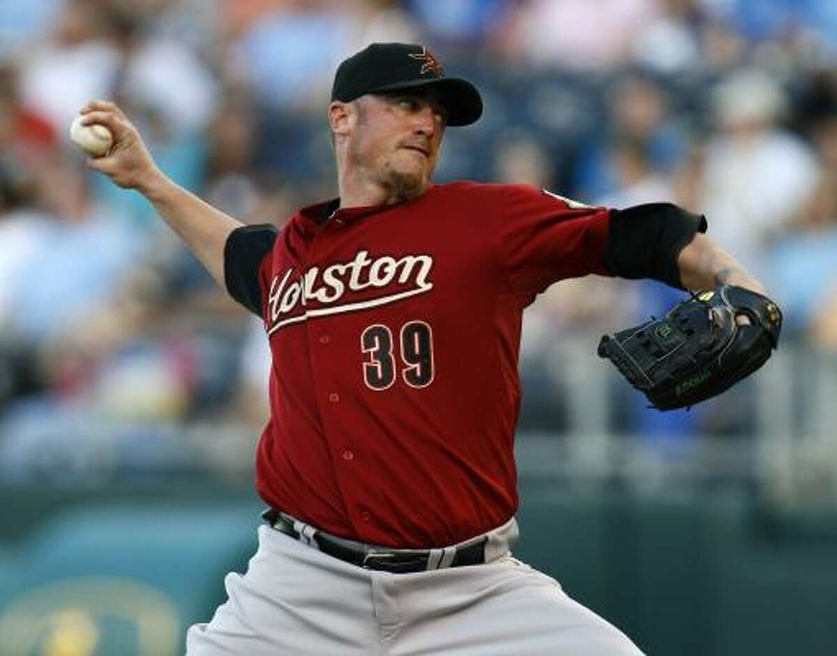 Brett Myers threw six scoreless innings but ran into trouble during the seventh against the Royals.