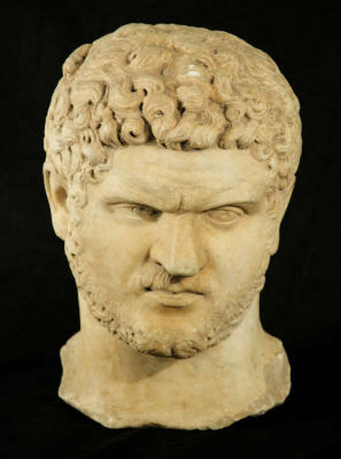 Roy Hofheinz bought the bust of Roman Emperor Caracalla about 50 years ago. Photo: Lewis & Maese