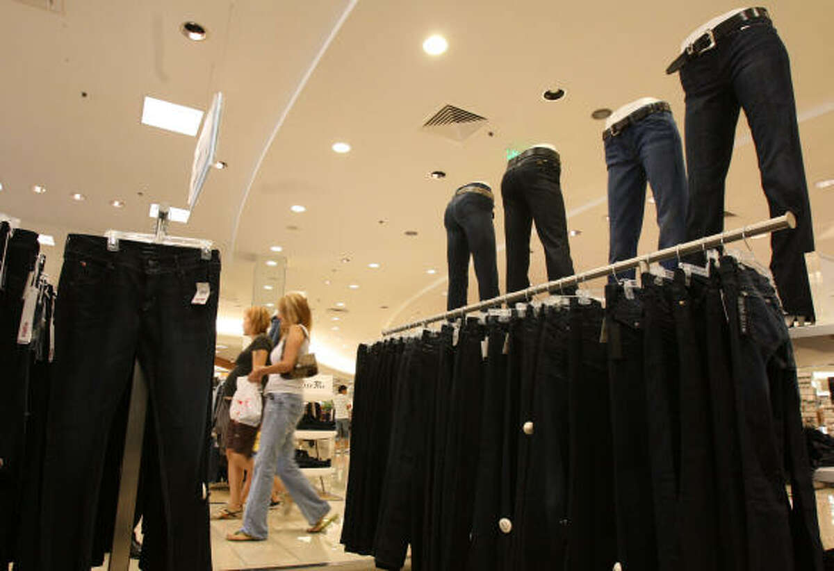As part of a national campaign to give its department stores more local flavor, Macy's increased its denim offerings at locations throughout Texas, including its Memorial City Mall store. Jeans sell especially well during rodeo season in the Houston area.