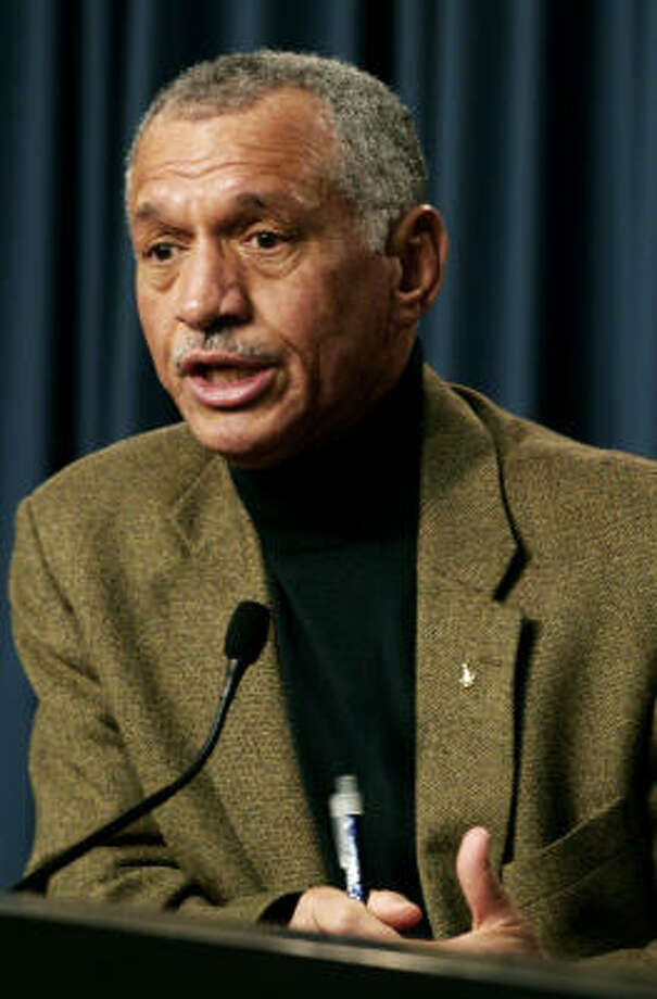 NASA administrator Charles Bolden answered questions Wednesday regarding the new proposed budget and the future of U.S. manned space flight. Photo: Marta Lavandier, Associated Press