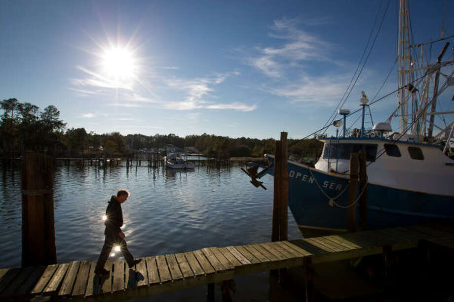 John Andrew Nelson's family fishing business on Mobile Bay received a little more than 10 percent of its damage claim. Photo: Smiley N. Pool, Chronicle