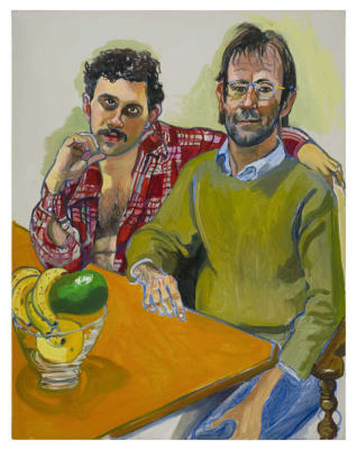 Geoffrey Hendricks and Brian, 1978, oil on canvas. Photo: MALCOM VARON