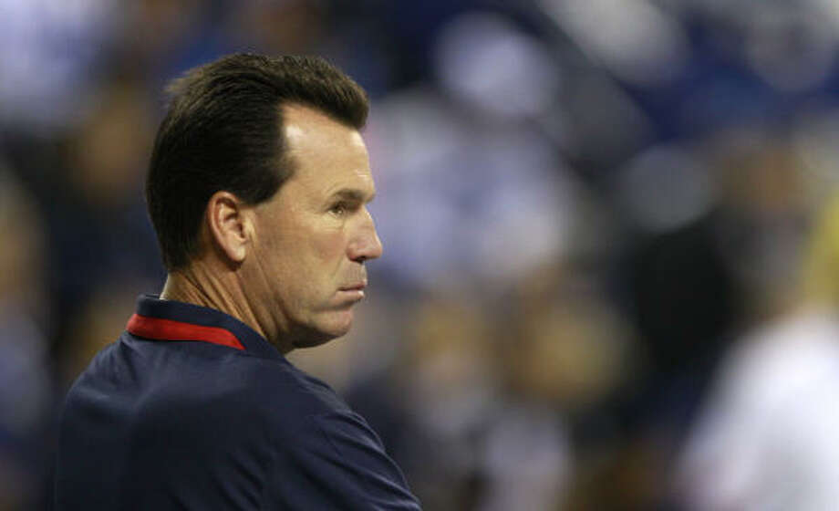 Texans coach Gary Kubiak said in hindsight he wishes he would have used Arian Foster more in the loss to the Colts. Photo: Brett Coomer, Chronicle