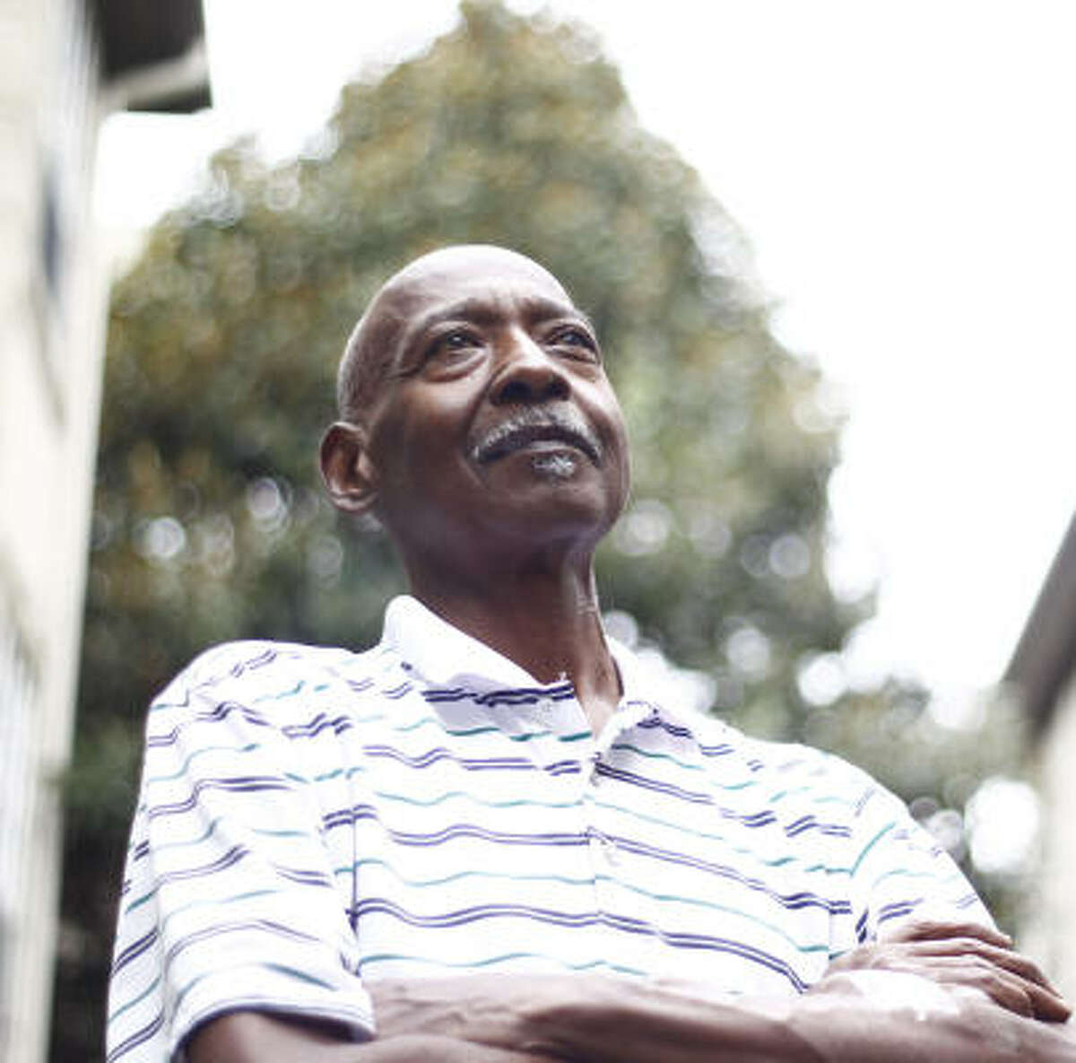 Wayne Alexander, 61, of Houston, says unfair treatment by the U.S. Department of Agriculture led to the loss of his farm in Needville. He and his wife now live in a Midtown apartment.