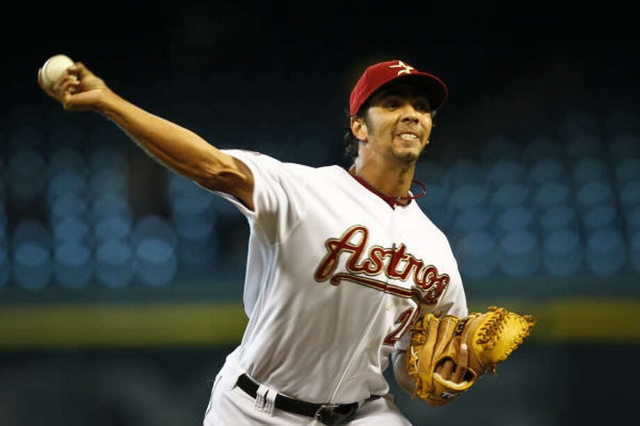 Nelson Figueroa went 5-3 with a 3.22 ERA for the Astros last year. Photo: Michael Paulsen, Chronicle