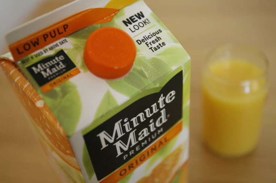 Minute Maid is making some major changes this year, starting with a packaging redesign. Photo: Julio Cortez, Chronicle