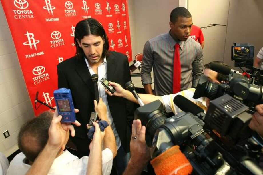 Luis Scola averaged 16.2 points and 8.6 rebounds for the Rockets last season. Photo: Billy Smith II, Chronicle