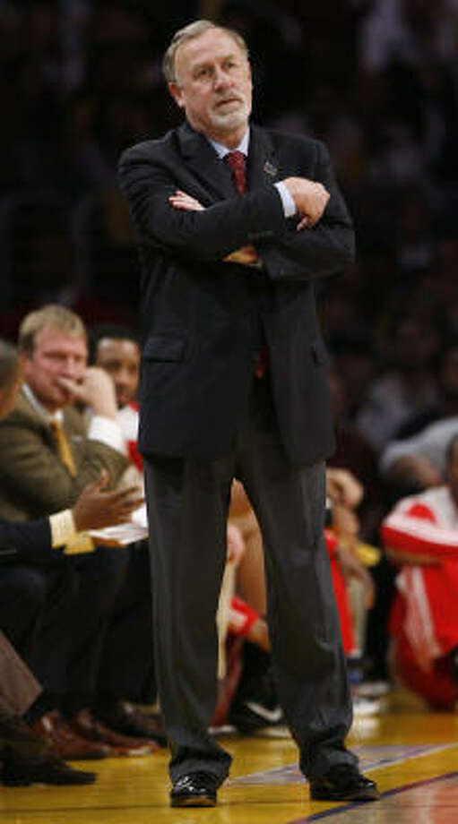 Rockets coach Rick Adelman will have to manage Yao's minutes wisely as the season begins tonight. Photo: Brett Coomer, Chronicle