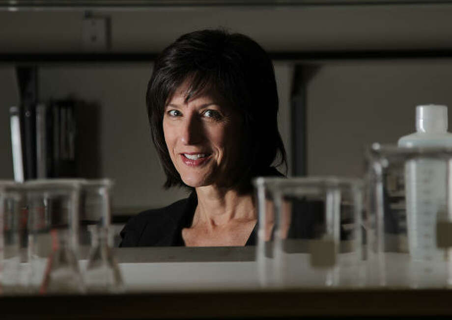Lynn Kirkpatrick, CEO and president of Ensysce Biosciences, says her company has developed a way to use nanotubes so they can enter cancer cells and prevent tumors from growing. Photo: Mayra Beltran:, Chronicle