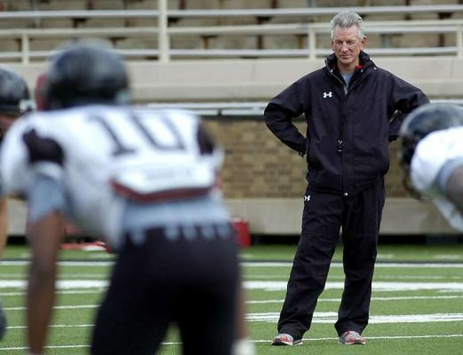 First-year Texas Tech head coach Tommy Tuberville would like to improve his program's passing and rushing defense. Photo: Geoffrey McAllister, AP