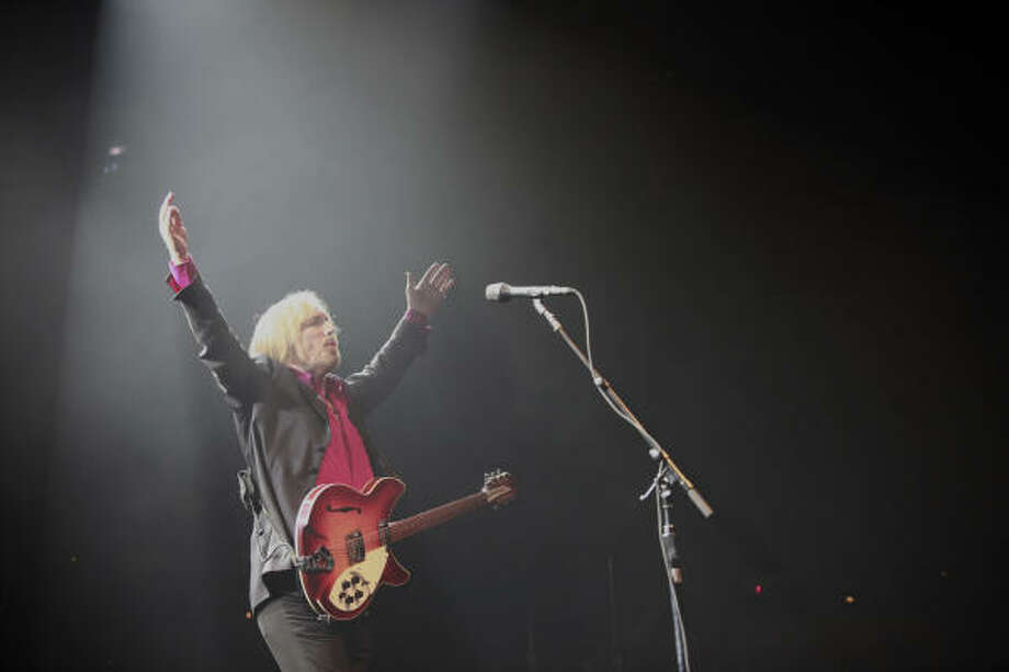 Tom Petty, above, and  ZZ Top put on a quite a show Friday at The Cynthia Woods Mitchell Pavilion in The Woodlands. Photo: Nathan Lindstrom, Chronicle
