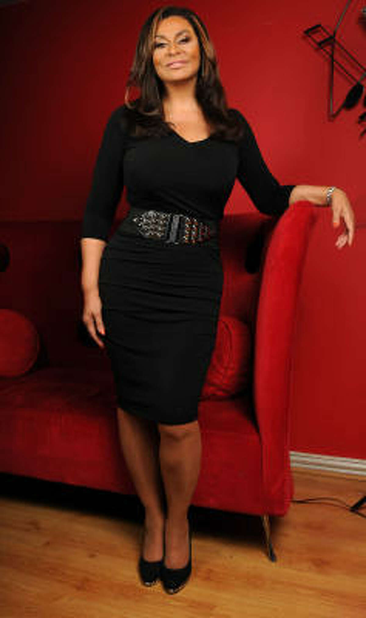 Tina Knowles at the House of Dereon Media Center on Oct. 1.