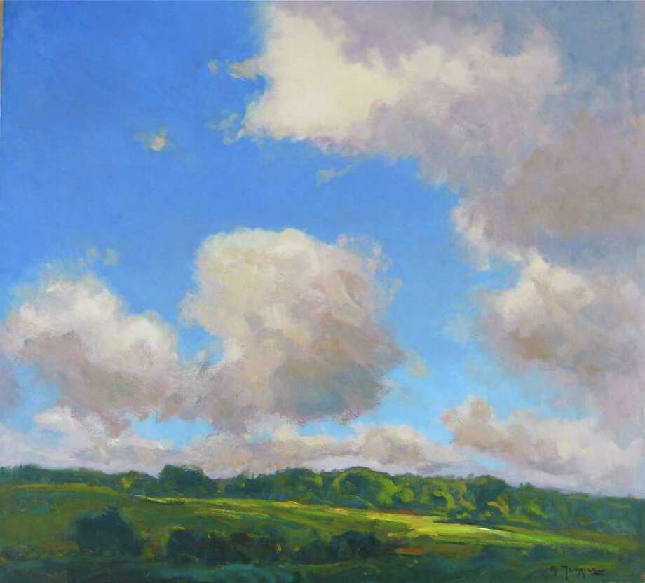 """""""Land and Sky"""" by Mark Tougias of Cambridge. (Courtesy the artist)"""