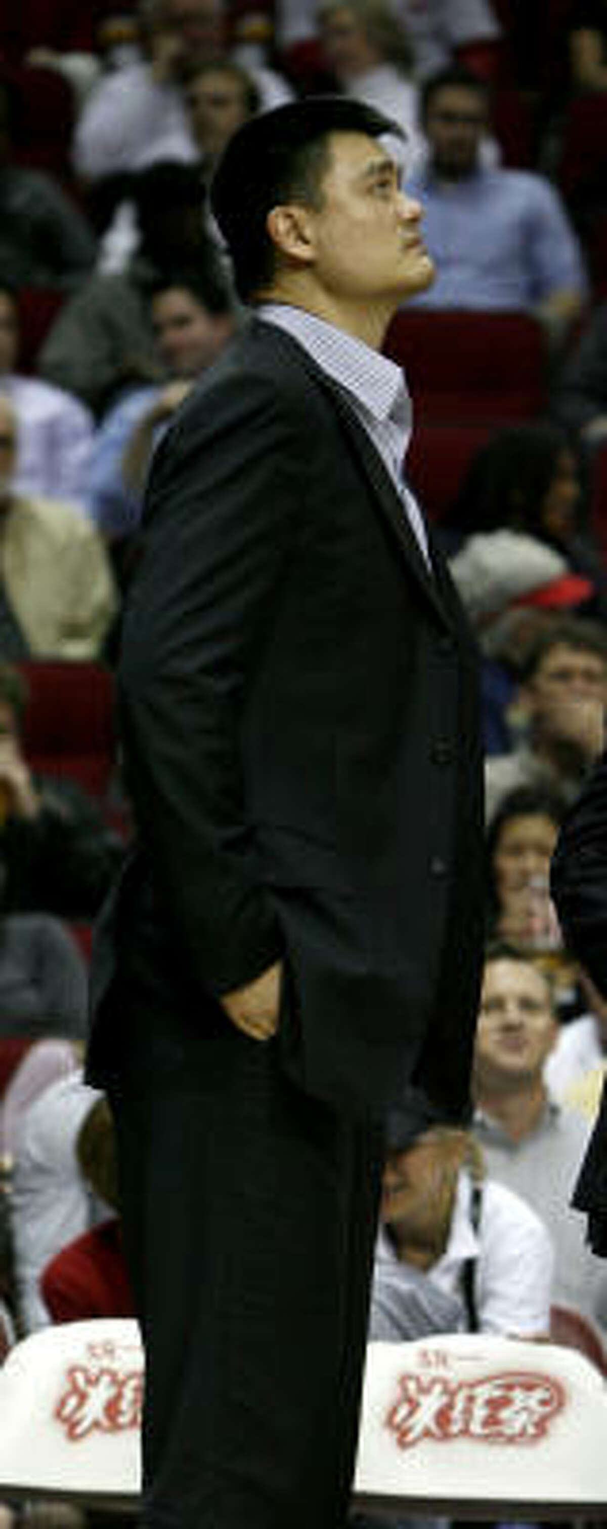 Yao Ming has not played since suffering a stress fracture May 8, 2009 in the Western Conference semifinals.