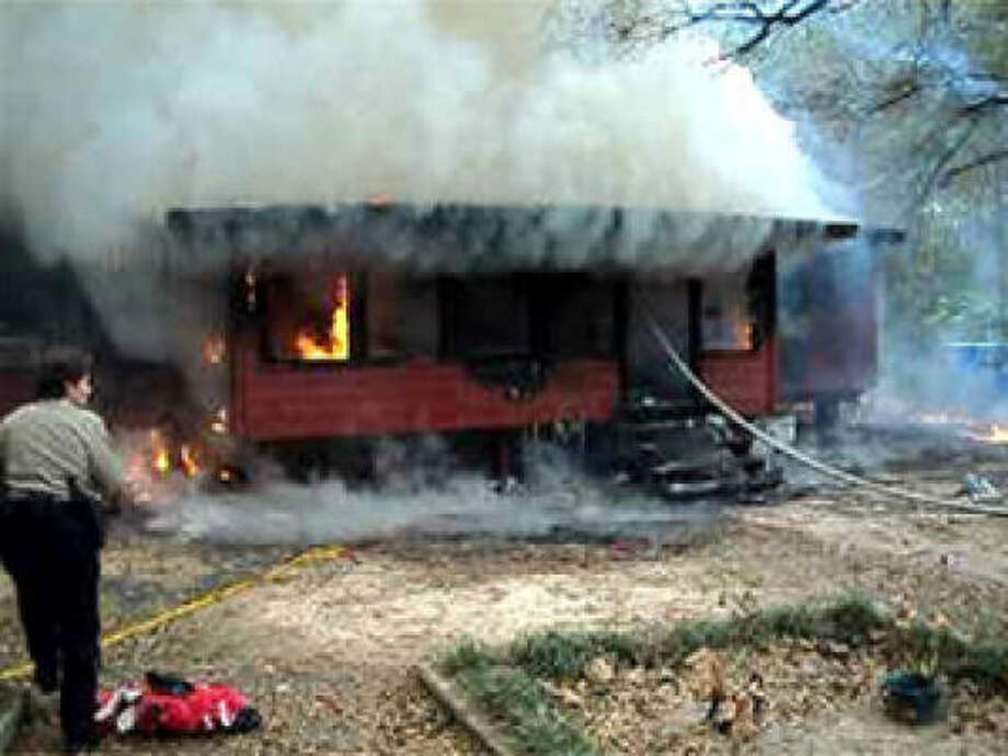 House fire in Montgomery County today in which a 2-year-old died. Photo from @39News via yfrog.com. Photo: 39News On Yfrog