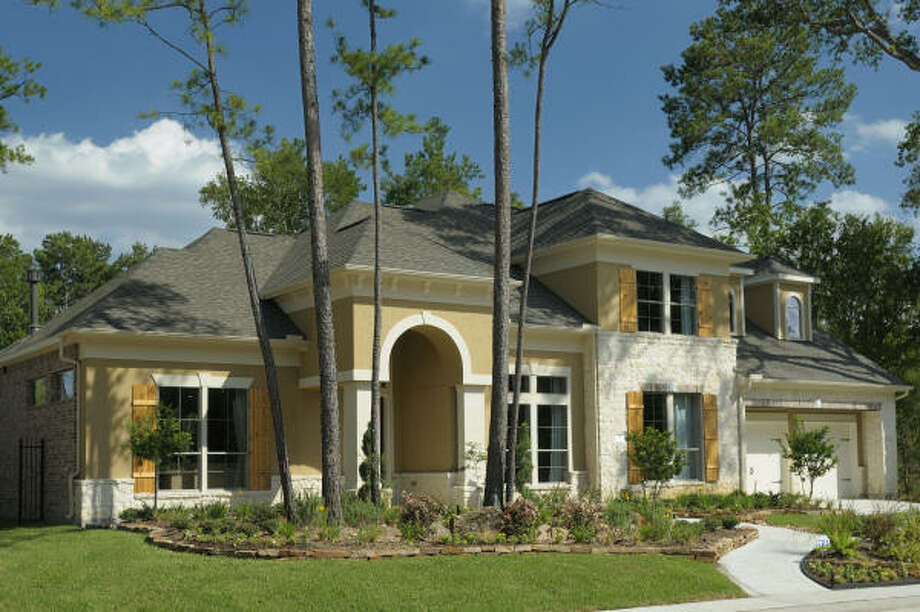 TWO-STORY PLAN: Trendmaker Homes presents Plan M831 in Clare Point in the new 400-acre May Valley, in The Woodlands' Village of Sterling Ridge. At 3,451 square feet, this two-story home includes four bedrooms, dining room, study,  and 3½ baths. It is priced from $388,900.