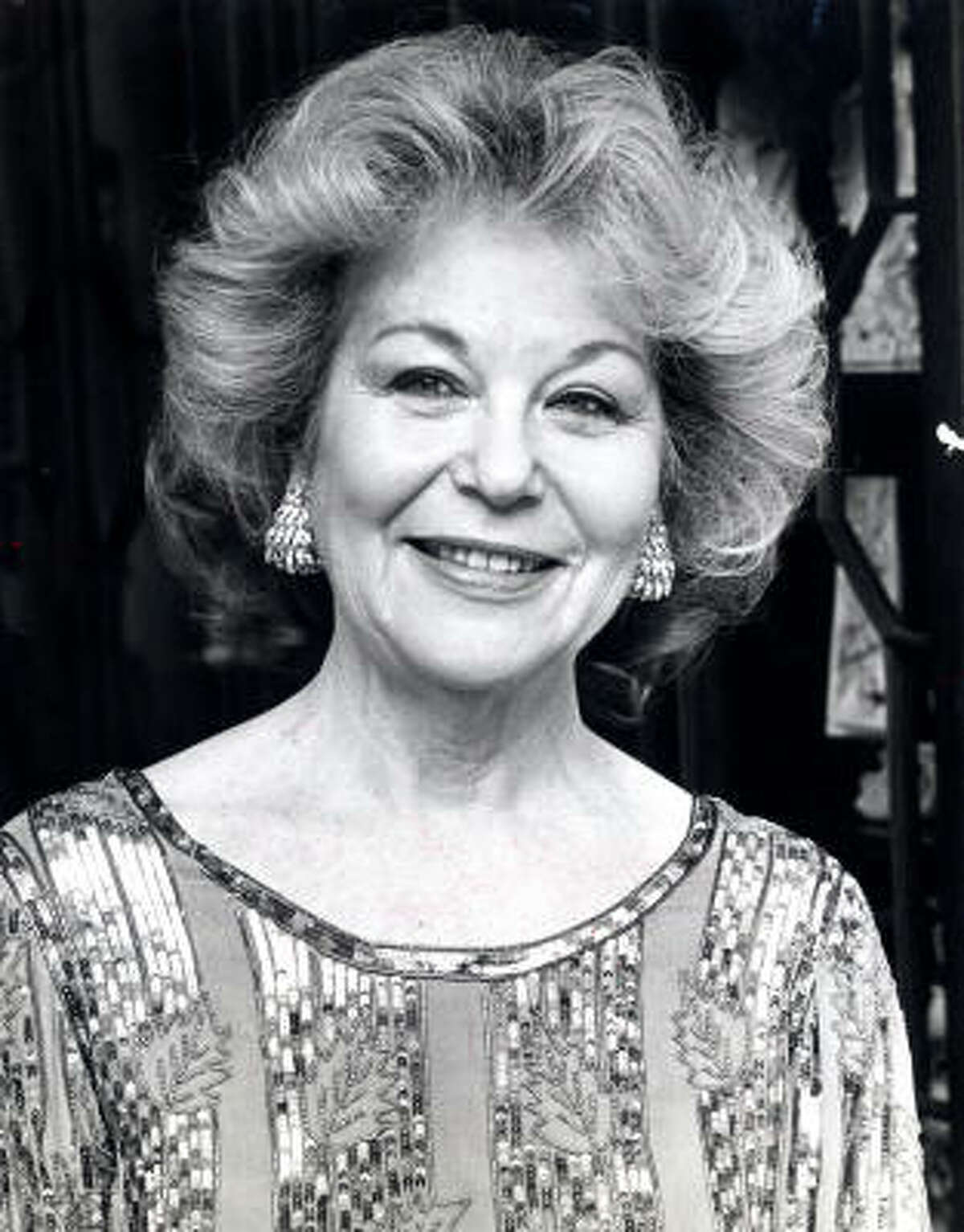 Ann Baum Sakowitz, shown in 1984, was active in Houston's civic affairs and culture.
