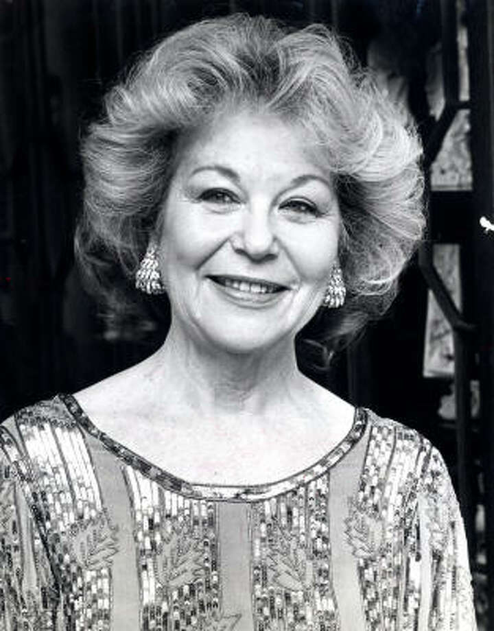 Ann Baum Sakowitz, shown in 1984, was active in Houston's civic affairs and culture. Photo: Chronicle File