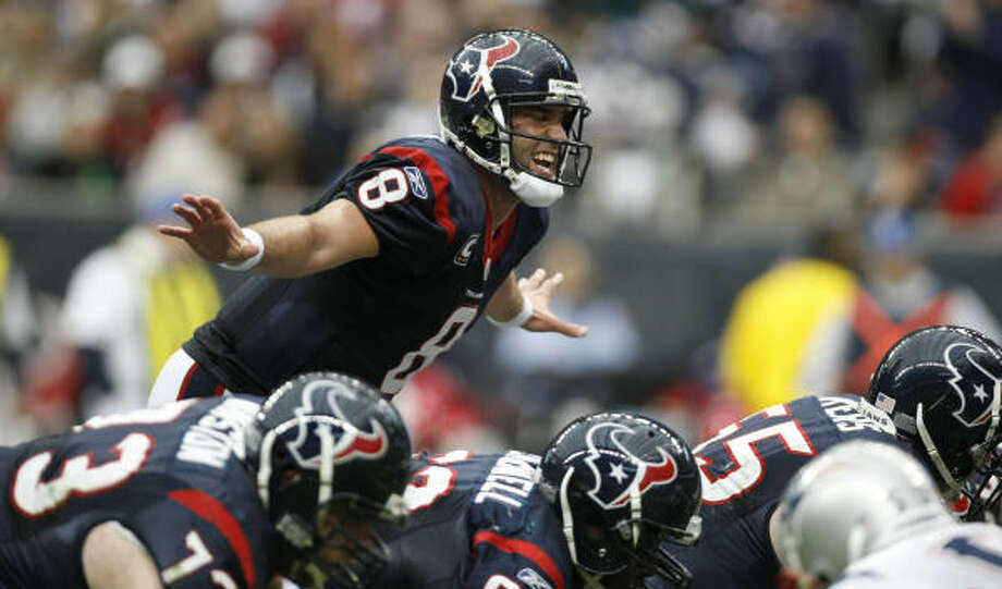 A fine-tuning over the next six months should deliver an even better Matt Schaub in 2010. Photo: Nick De La Torre, Houston Chronicle