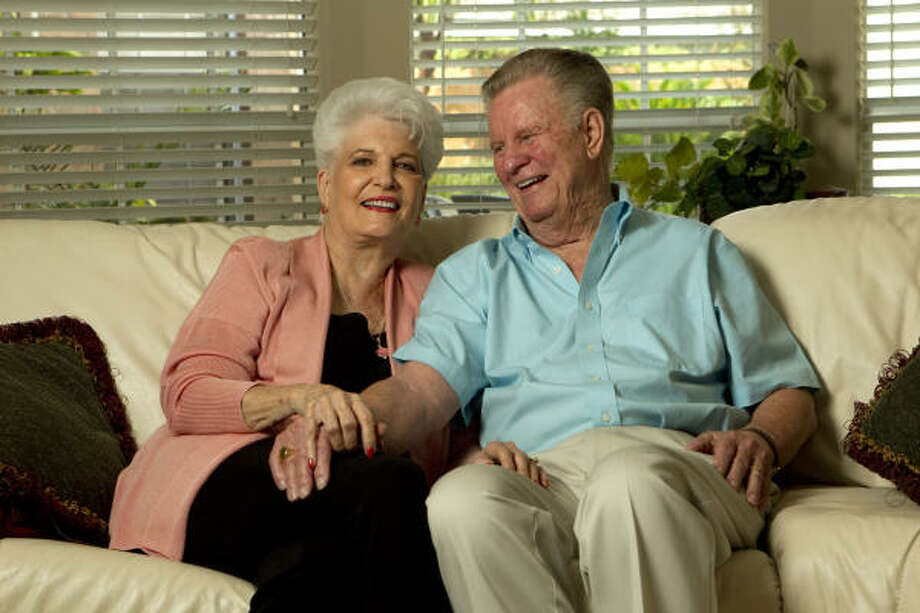 Jim and Dorothy Lott met in June of 1950 in Lufkin and were married Oct. 14, 1950. Photo: Brett Coomer, Chronicle