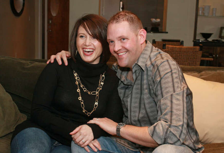 Hailey and Jaron Hall met on a Christian online dating site. Photo: Gary Fountain, For The Chronicle