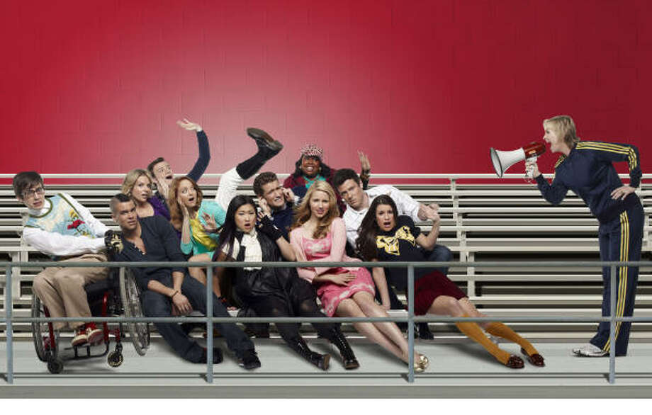 Everyone's favorites are back for the new episodes of Glee, premiering at 8:28 tonight on Fox. Pictured are, bottom row from left, Kevin McHale, Mark Salling, Jenna Ushkowitz, Dianna Agron, Lea Michele and Jane Lynch; middle row from left, Jessalyn Gilsig, Jayma Mays, Matthew Morrison and Cory Monteith; top row from left, Chris Colfer and Amber Riley. Photo: PATRICK ECCLESINE, FOX