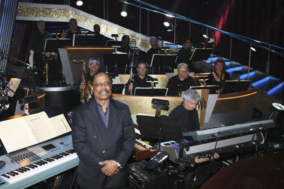Dancing With the Stars orchestra leader Harold Wheeler, front, says his band has had only one major gaff during its six years performing on the dancing competition show. Photo: Adam Larkey :, ABC