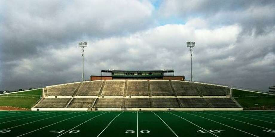"Tully Stadium in Houston is one of 57 Texas high-school stadiums featured in Austin photographer Jeff Wilson's new coffee-table book ""Home Field."" Photo: Courtesy Jeff Wilson"