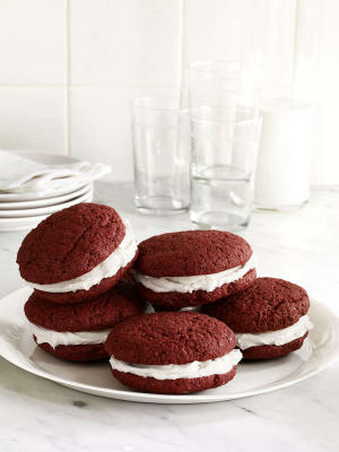 Red Velvet Whoopie Pies Photo: FOOD NETWORK MAGAZINE