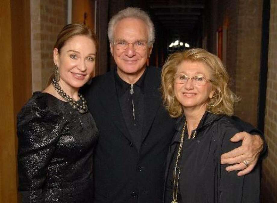 Becca Cason Thrash, left, with David and Sybil Yurman. Photo: David Rossman