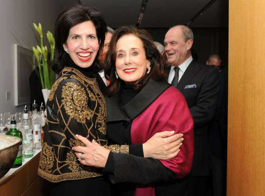 Kelli Cohen Fein and Betty Tutor at the Maestro and Directors Dinner. Photo: Diane Bondareff, Houston Chronicle