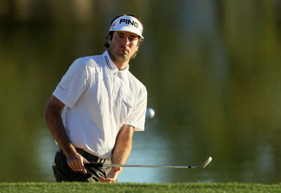 Bubba Watson double-bogeyed the final hole in the fourth round, dropping him into a tie with Alex Prugh. Photo: Jeff Gross, Getty Images