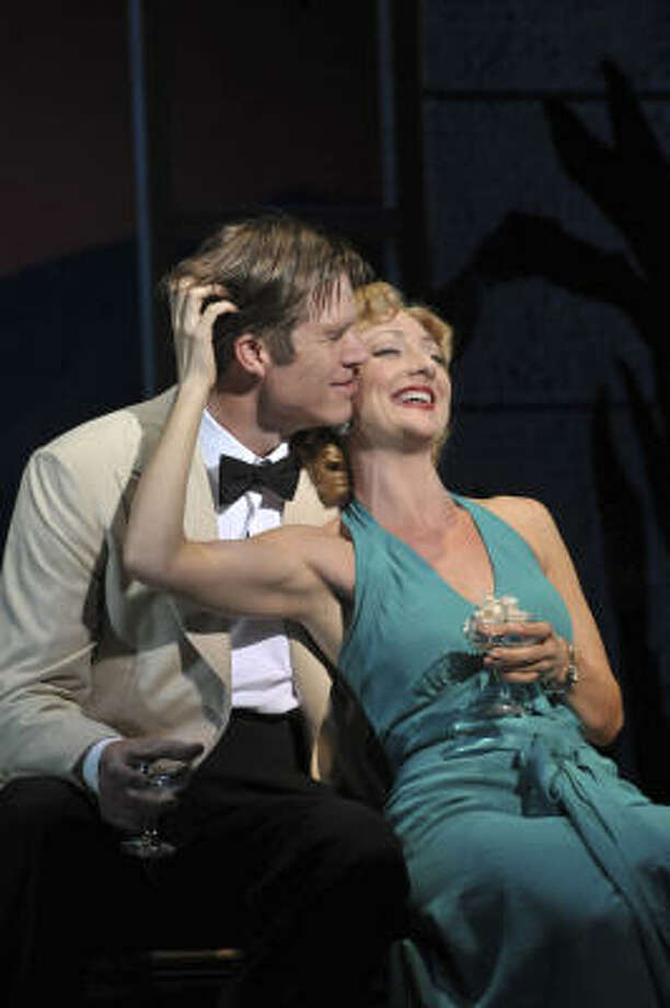 Rod Gilfry and Carmen Cusack star in South Pacific, now at Hobby Center.
