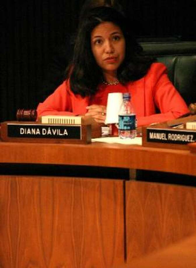 Diana Davila says she'll resign from the HISD school board Thursday. Photo: Houston Chronicle