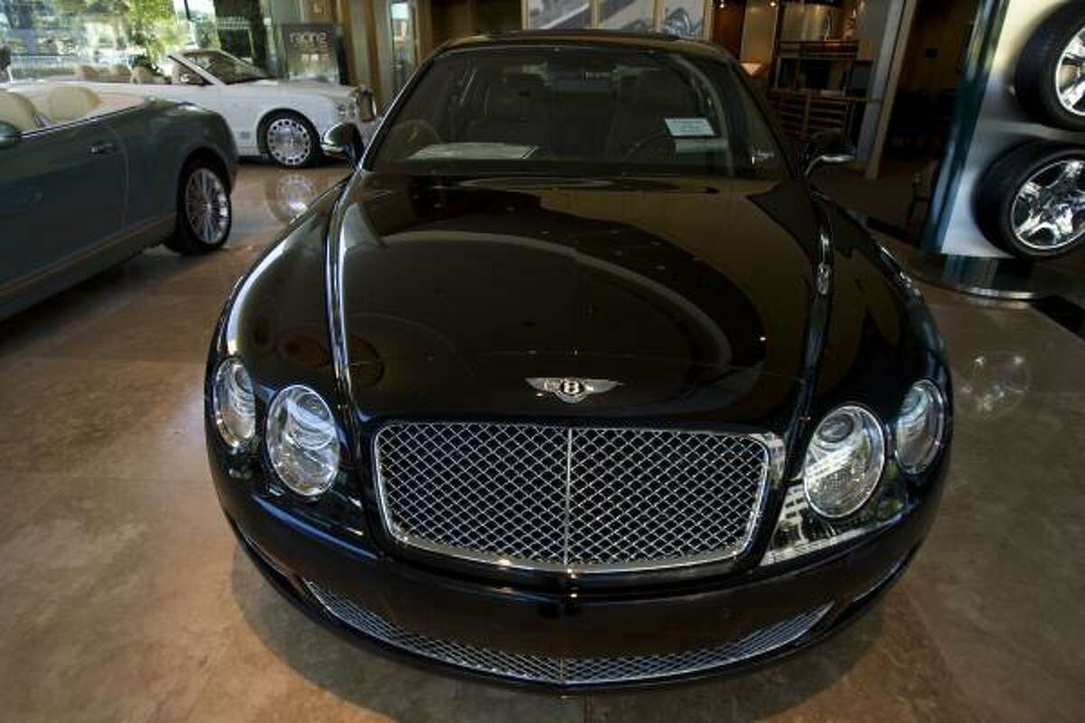 This 2010 Bentley Flying Spur at Post Oak Motor Cars one of two vehicles a Beaumont man allegedly tried to purchase Friday with a phony $500,000 Federal Reserve Bank check.