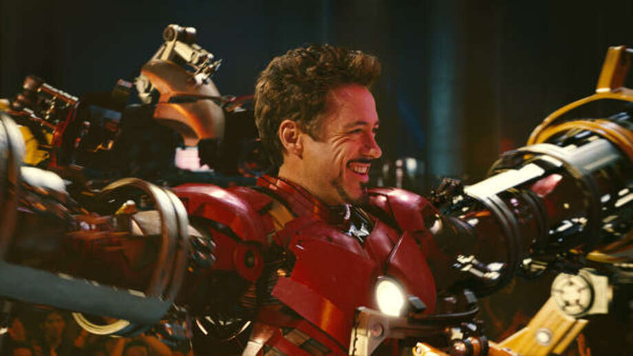Robert Downey Jr. is back as billionaire industrialist Tony Stark, aka Iron Man, in Iron Man 2. Photo: Photo Credit: Industrial Light A, Industrial Light & Magic