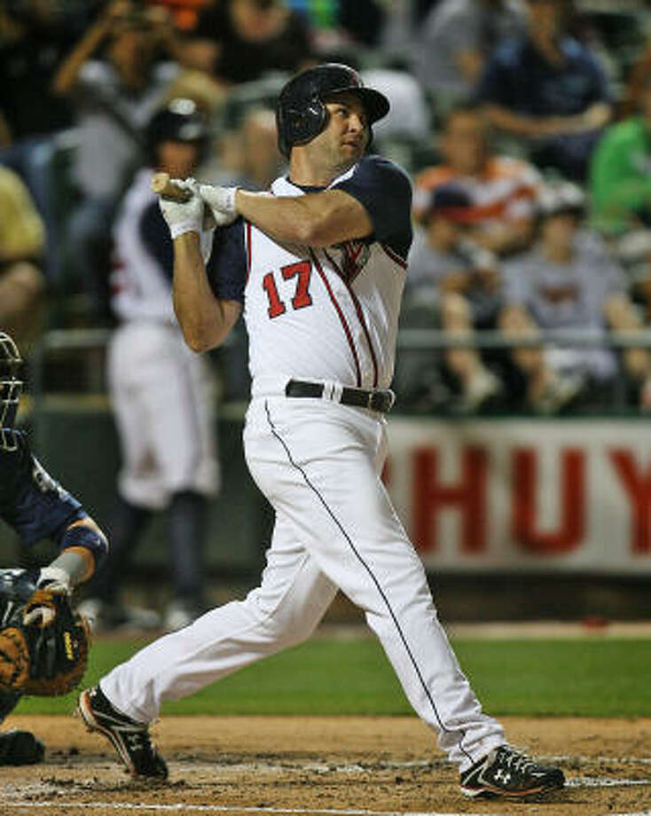 Lance Berkman completed a two-game rehab assignment in Round Rock this weekend. Photo: RODOLFO GONZALEZ, AUSTIN AMERICAN-STATESMAN