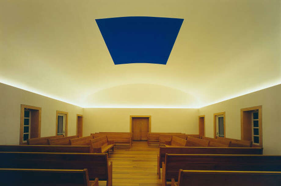 Following repairs to the roofing system of Live Oak Friends Meeting House, light artist James Turrell's Skyspace is set to reopen for viewing hours on July 30. Photo: F. Holzherr, © James Turrell