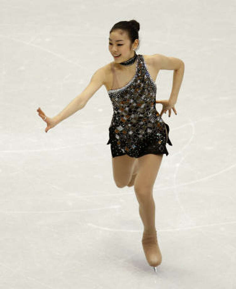 Yu-Na Kim has a big lead, but it is not insurmountable with the free skate counting for most of the score. Photo: Paul Chinn, The Chronicle